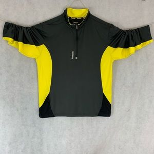 Reebok Half Zip Long Sleeve Workout Shirt